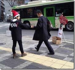街頭配布 大阪1